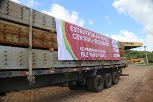 Carretas chegam à Baixada Maranhense com toneladas de material para a ponte Central-Bequimão