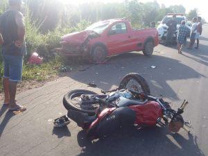 Motociclista embriagado causa acidente na MA -106 em Turilândia