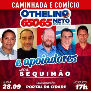 Bequimão prepara grande comício para receber o deputado Othelino Neto