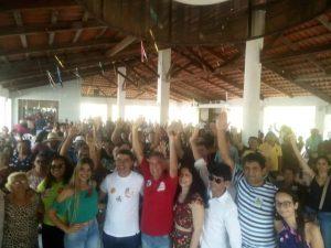 Toca Serra e Bira do Pindaré realizam ato político na cidade de Viana.