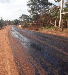 Bequimão – Avenida que liga Balandro ao Barroso recebe camada asfáltica