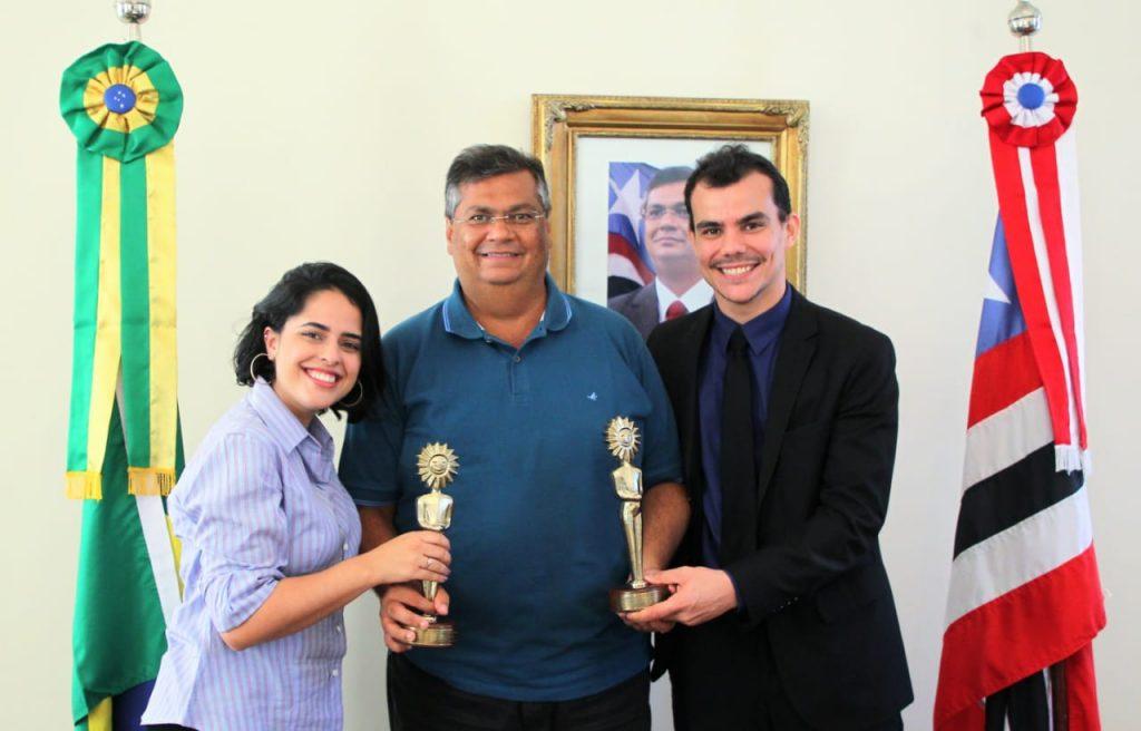Governador Flávio Dino recebe produtores de filme maranhense premiado no Festival de Cinema de Gramado