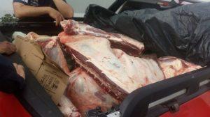 São Bento – Meia tonelada de carne sem procedência é apreendida e suspeito conduzido