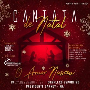 Prefeitura de Pres. Sarney realiza Cantata de Natal no próximo dia (19)