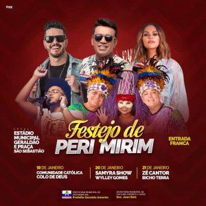Peri Mirim – Programação Oficial do tradicional festejo de São Sebastião