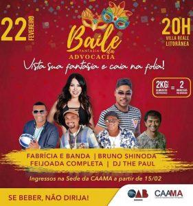 Baile de Carnaval da Advocacia maranhense acontece nesta sexta-feira (22), em São Luís