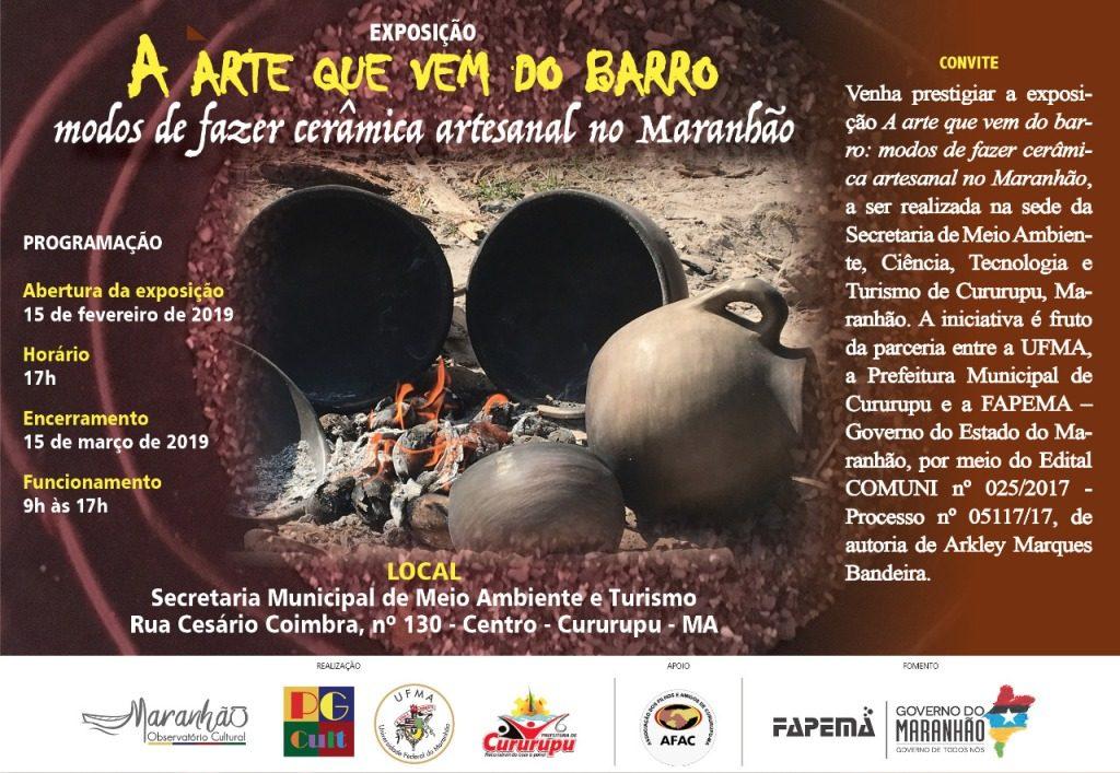 Modos de fazer cerâmica artesanal no Maranhão são apresentados durante exposição em Cururupu