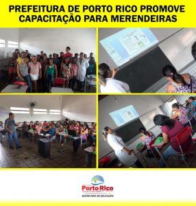 Prefeitura de Porto Rico promove capacitação para Merendeiras