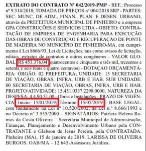 Obra que ninguém viu – Empresa da cidade de Raposa abocanha quase meio milhão com recuperação de pontes de madeira em Pinheiro