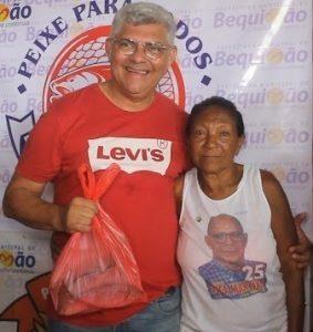 Prefeito de Bequimão distribui 10 toneladas de peixes para famílias carentes