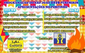 Prefeitura de Peri Mirim divulga Programação Oficial do São João 2019
